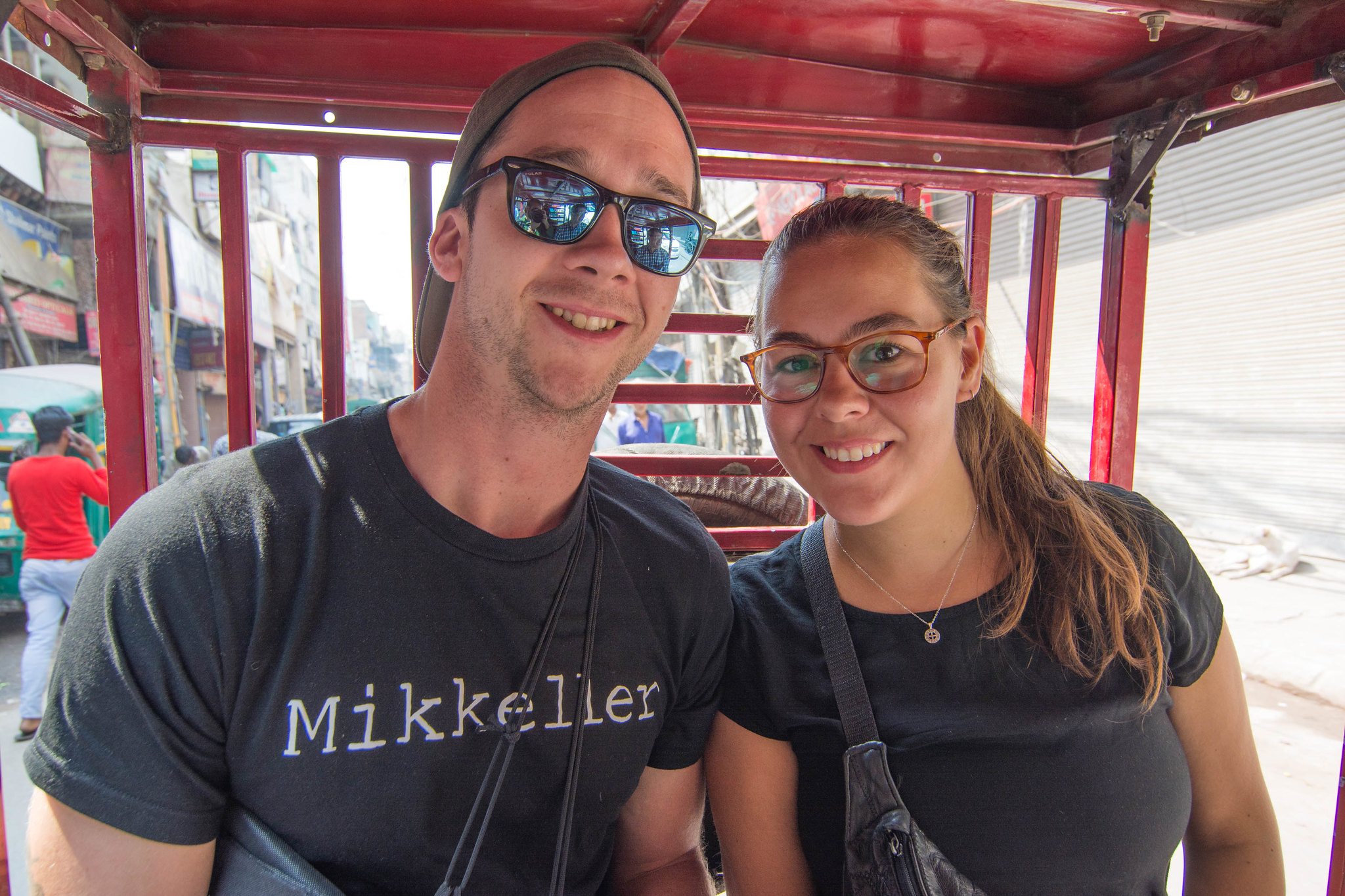Ride in an electric rickshaw