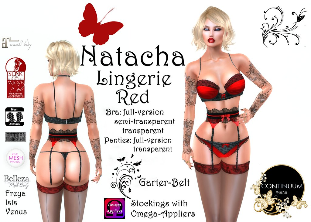 Continuum Natacha Lingerie Red