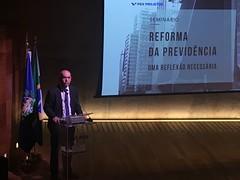 Secretário de Previdência Marcelo Caetano fala sobre a Previdência brasileira em seminário promovido pela FGV, no Rio de Janeiro. 12 mar. Foto: Sprev/MF