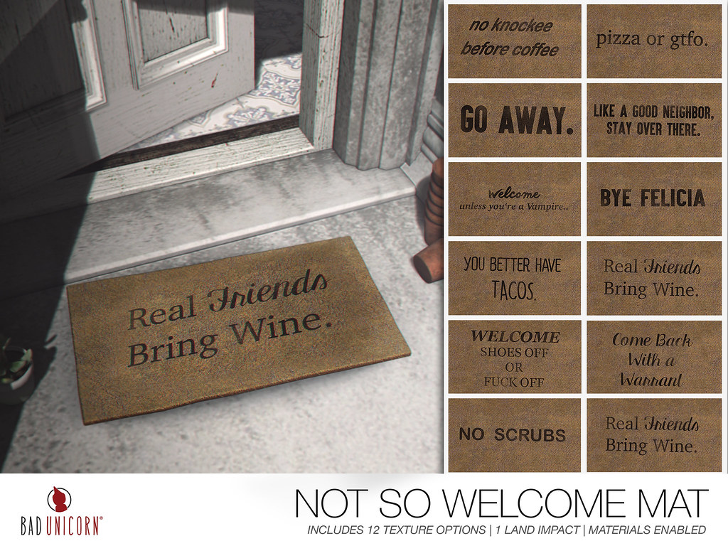 NEW! Not So Welcome Mat @ Bad Unicorn (ONLY 99L)