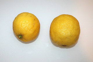 02 - Zutat Bio-Zitronen / Ingredient lemons