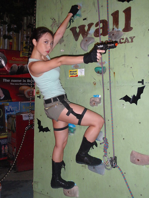 Noelle as Lara Croft