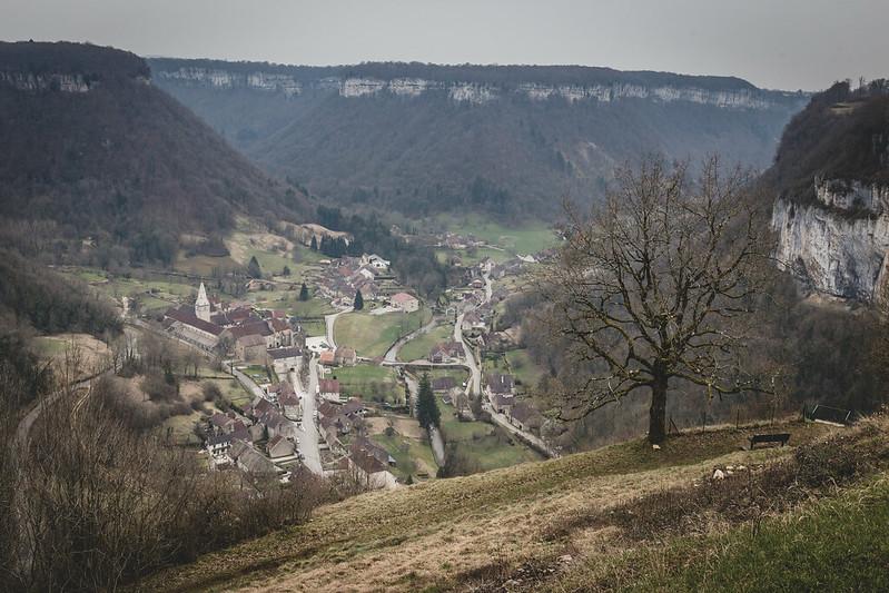 Belvédère de Granges sur Baume - Au-dessus de Baume les Messieurs - Jura - France - février 2018
