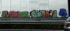 graffiti along the highway