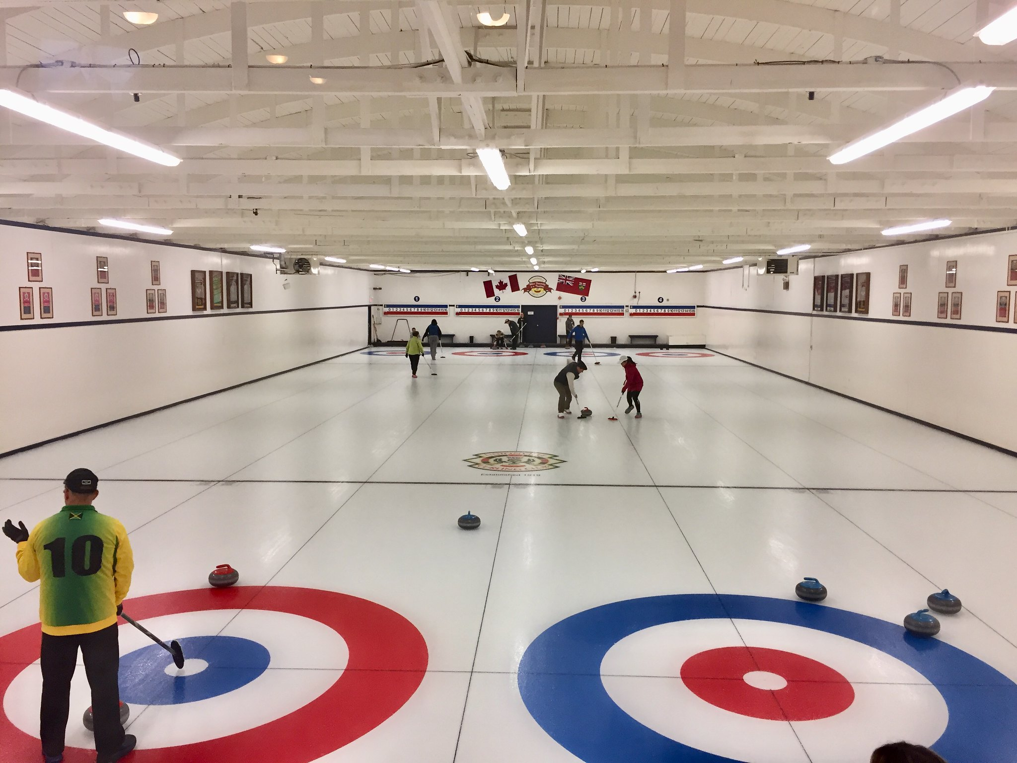 Inside Unionville Curling Club