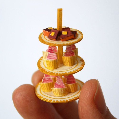 3D Waterclor Illustrated Mini-Desserts by Mar Cerdà