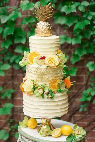 Wedding Cakes : Dreaming of Summer With Citrus Wedding Cakes ~ Oranges, lemons and limes and flo...