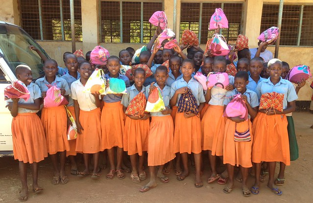 Happy Girls from M'Buyuni School