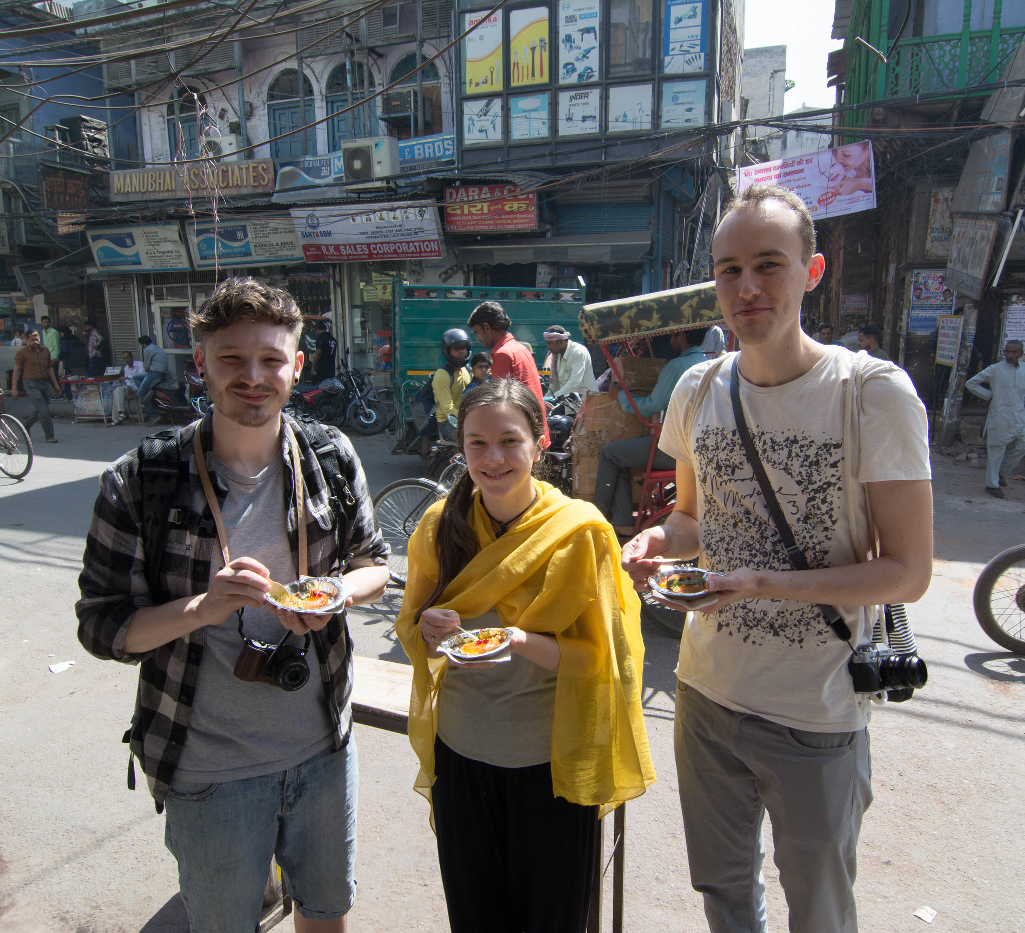 Walking in Old Delhi streets, tasting food and taking pictures