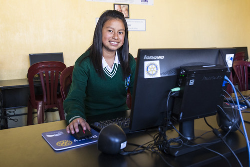 Jennifer, computer technology student in Guatemala, Latin America