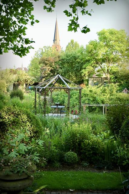 Romantische tuin landelijke stijl
