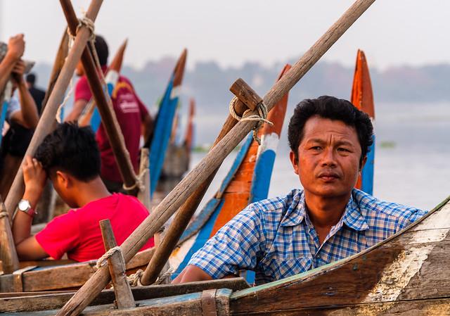 Header of boatsman