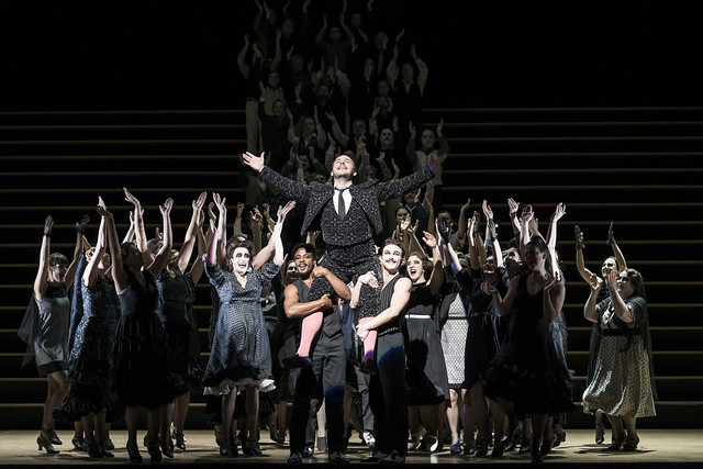 The Royal Opera Chorus and Kostas Smoriginas as Escamillo (c) ROH/Bill Cooper