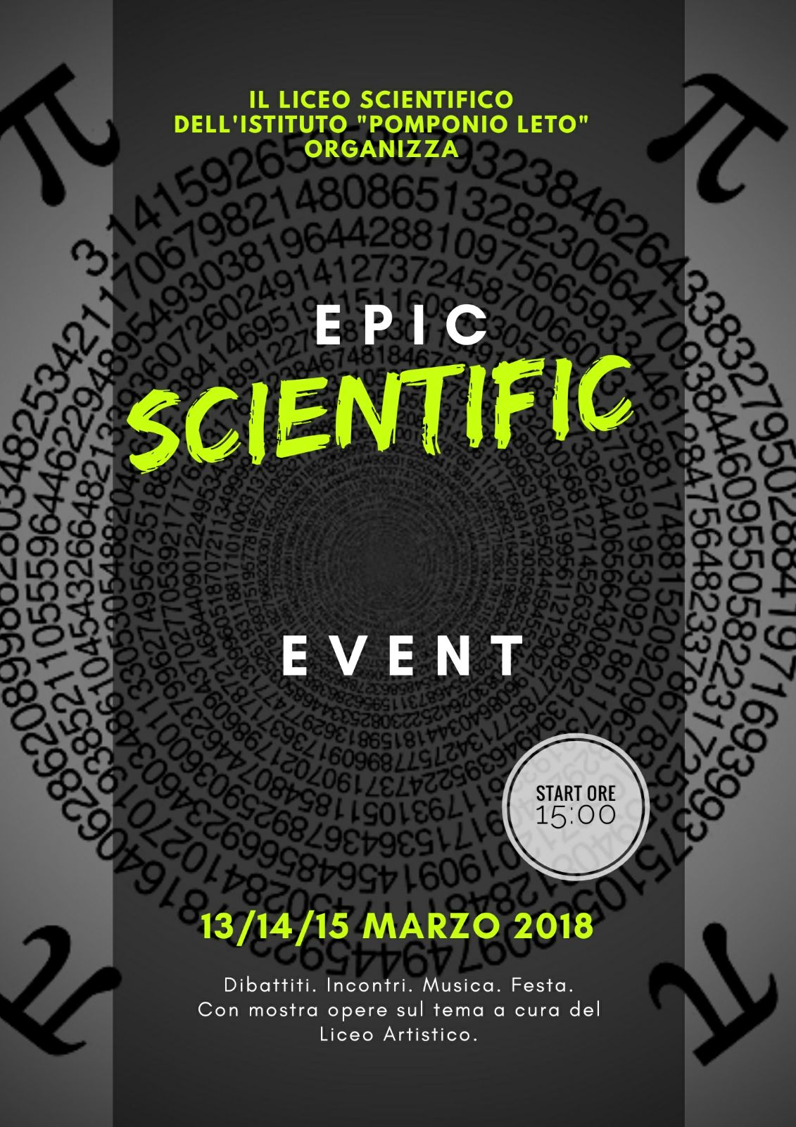 Epic Scientific Day al Pomponio Leto