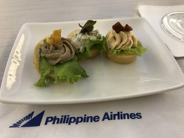 PAL flight,  appetizer
