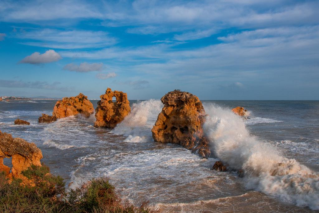 """Três Penecos"" at Praia Arrifes"