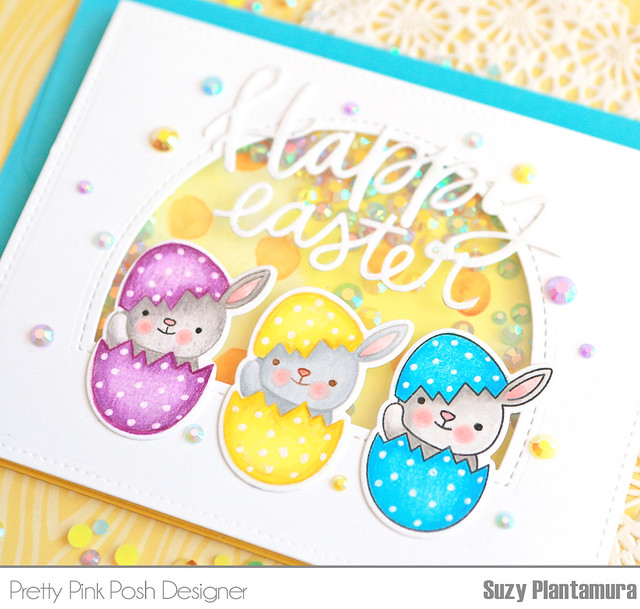 happy easter egg card close up