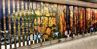 Mural at Dulles Airport International Arrivals