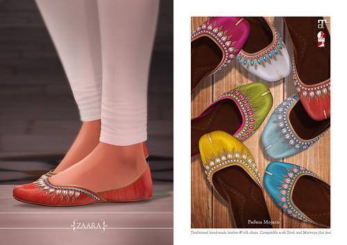 {Zaara} Padma Mojari shoes for C88