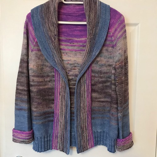 Sue2Knits finished Comfort Fade Cardi