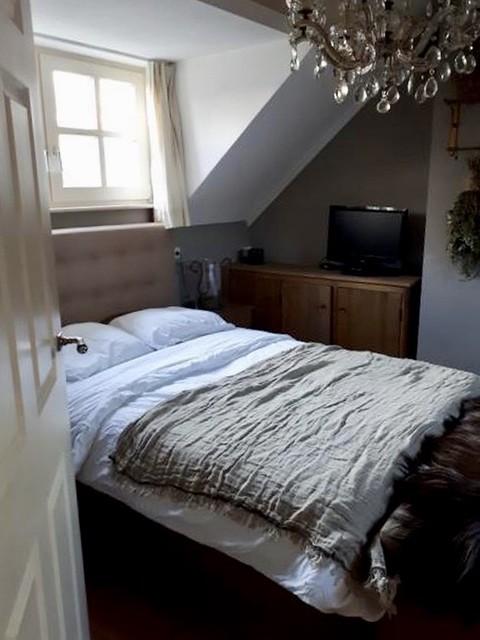 Slaapkamer kalkverfmuren
