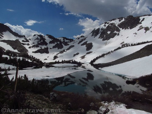 Barney Lake. One of those passes up there is Duck Pass. Inyo National Forest, California
