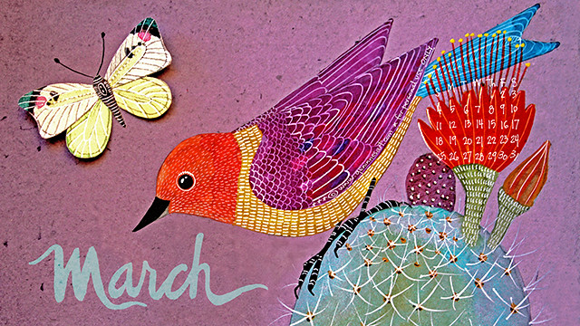 March 2018 desktop calendar_lo