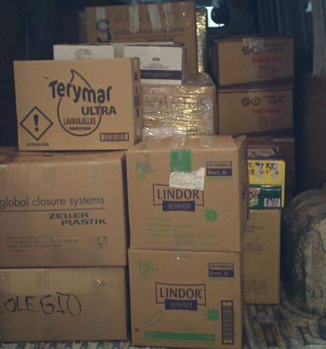 Recogida de alimentos de la Caravana por la Paz para el pueblo saharaui
