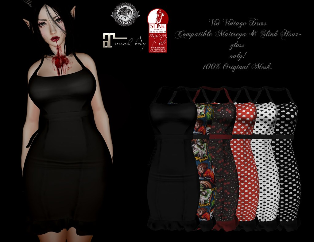 + Occult +Vio Vintage Dress {Maitreya-Hourglass} - TeleportHub.com Live!