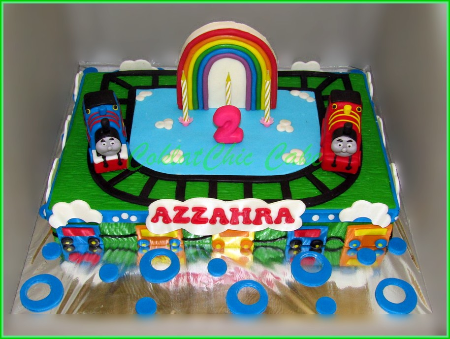 cake thomas the train AZZAHRA 20x30 cm