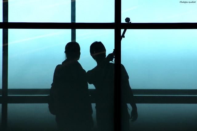 Aéroport de Plaisance : selfie
