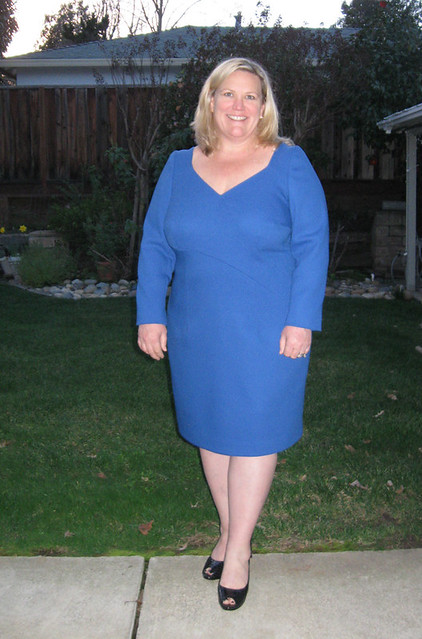 Heather blue dress view 3