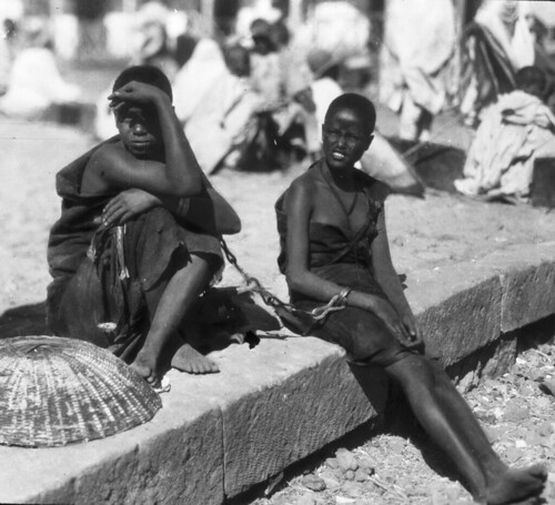Two girls at Haile Selassie's Coronation ceremonies, Ethiopia, 1930 | by The Burton Holmes Archive