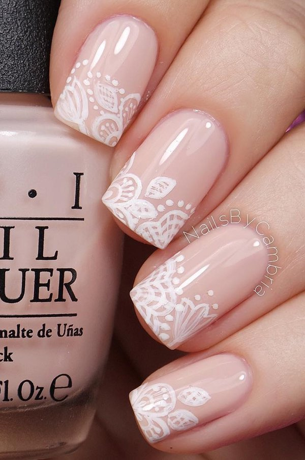 Fun and Pretty Pink and White Acrylic Nails - Fashion 2D