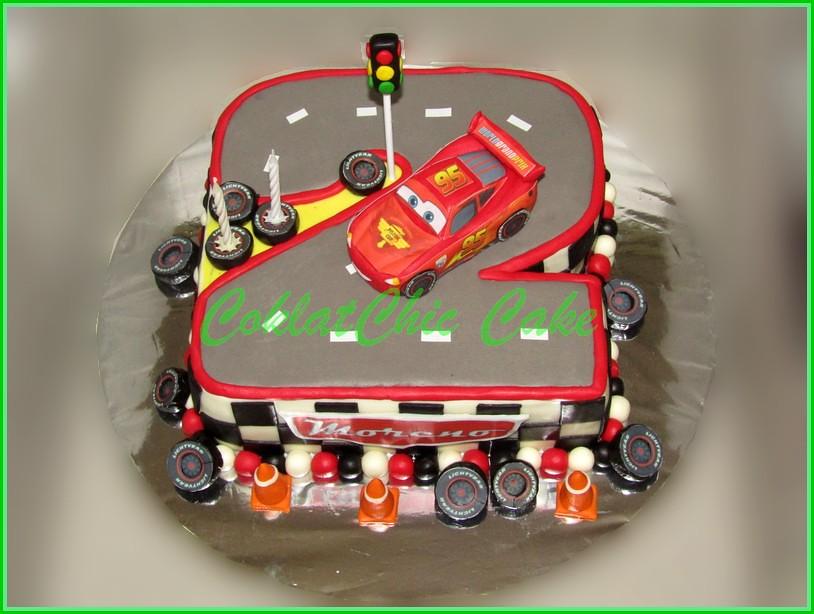 Cake Angka 2 Cars McQueen 20 cm