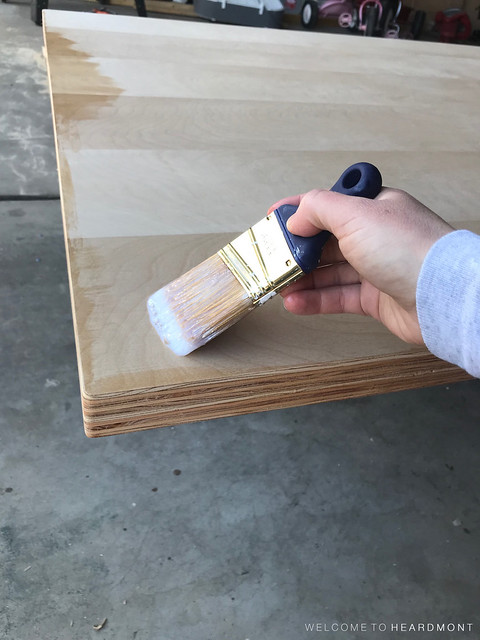 Applying First Coat Poly | Welcome to Heardmont
