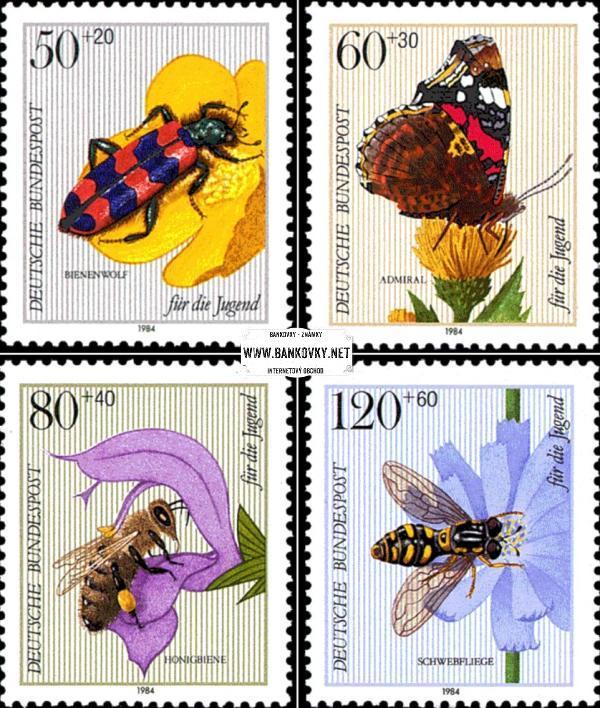 Známky Západné Nemecko 1984 Lietajúci hmyz, MNH séria