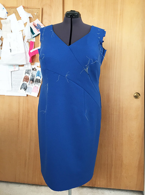 blue wool dress