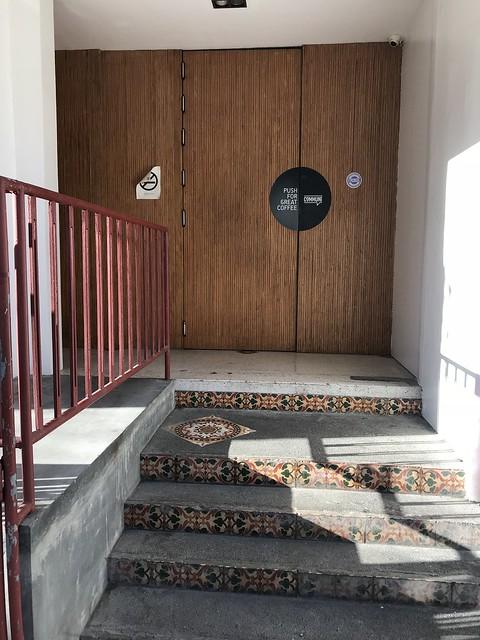 Commune Cafe main entrance door