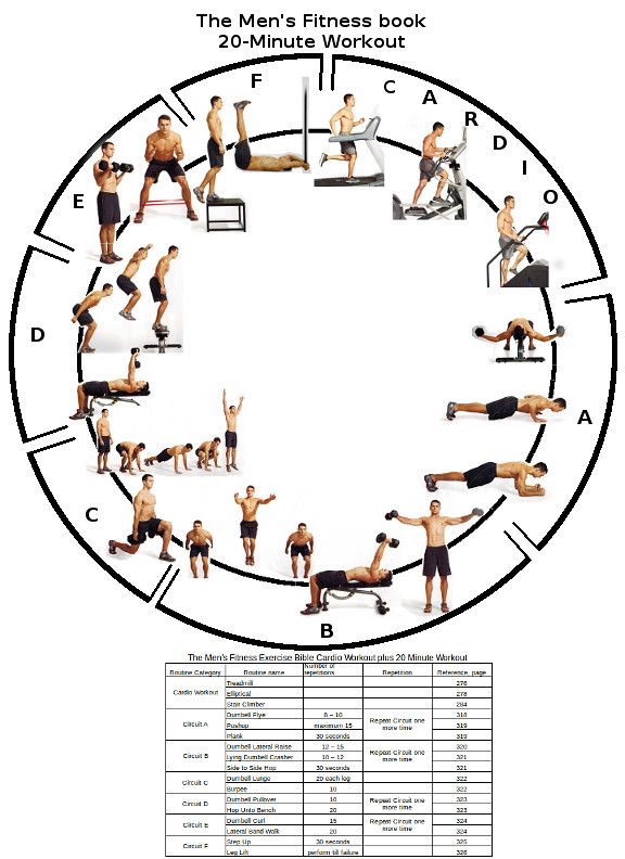 The Mens Fitness Exercise Bible Cardio plus 20 minute Workout