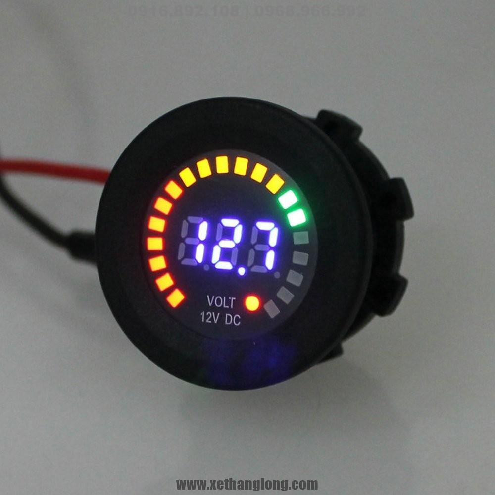 Đồng hồ LED đo điện bình 12V