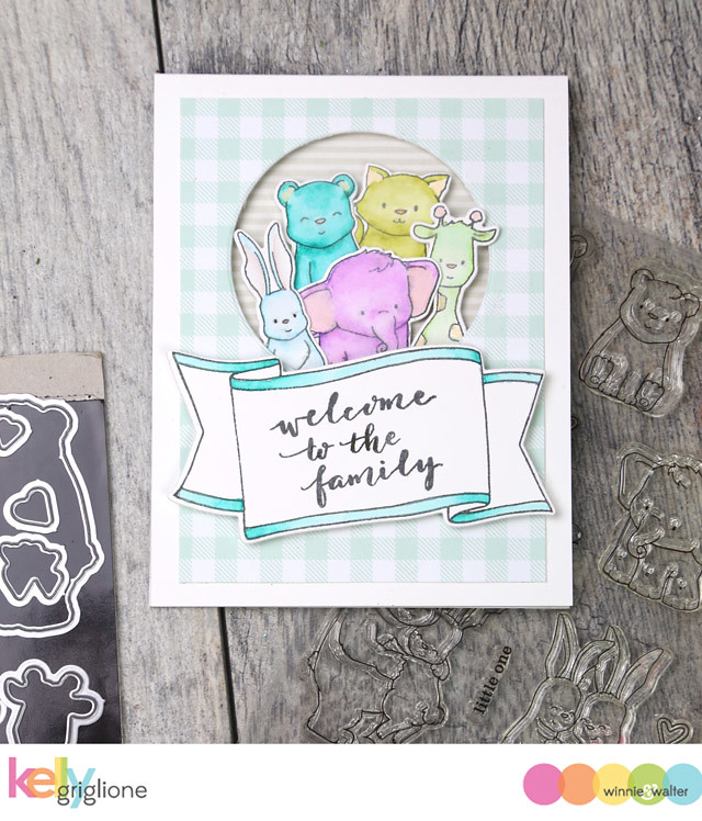 kelly_Winnie and Walter Welcome to the  Family Baby Card