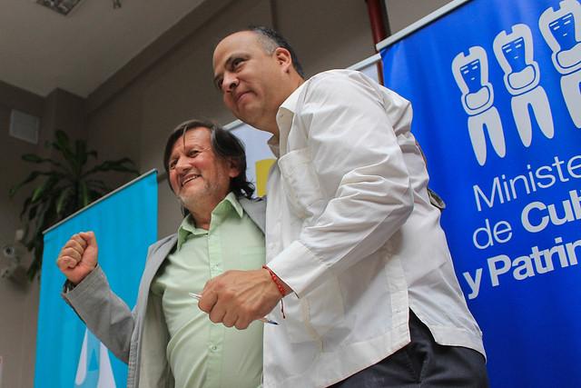 Firma de Convenio Ministerio de Educación - Ministerio de Cultura en el marco del Conversatorio Nacional para el Fortalecimiento del Arte y la Cultura en el sistema Educativo Ecuatoriano