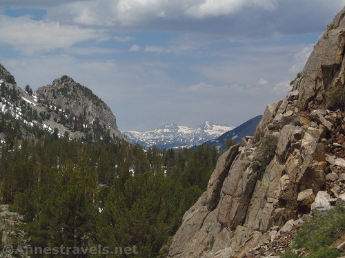 Views down the valley toward Donohue Peak from the Duck Pass Trail in Inyo National Forest, California