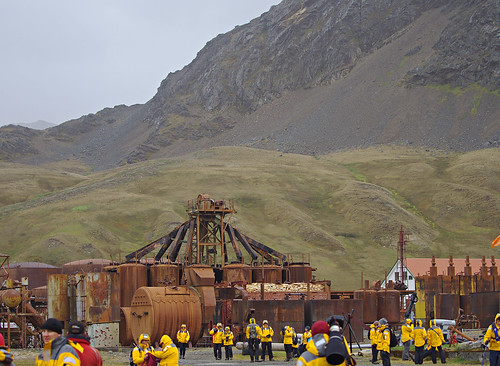 whalingstation whaling machinery oriangeparka 2018 antarctica quark oceandiamond southgeorgia grytviken grytvikken