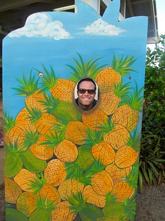 Scott as a pineapple