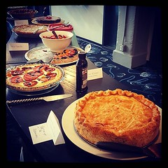 We're celebrating Pi Day with a good old fashioned pie baking contest. There are 7 sweet pies and 4 savory pies locked in a battle for #Deskey pie supremecy. :cake::trophy::pizza: