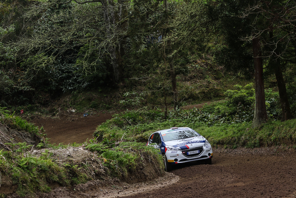 44 WAGNER Simon (aut), WINTER Gerald (aut), Sainteloc junior team, Peugeot 208 R2, action during the 2018 European Rally Championship ERC Azores rally,  from March 22 to 24, at Ponta Delgada Portugal - Photo Jorge Cunha / DPPI