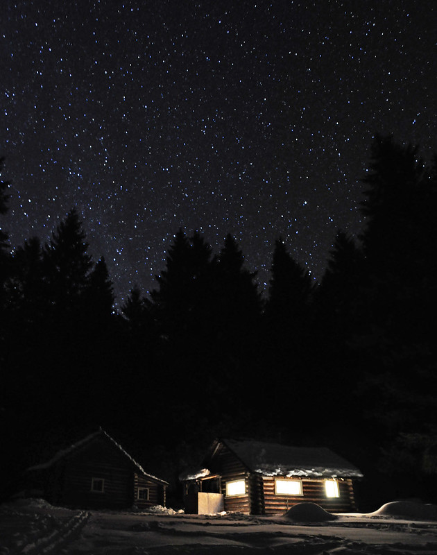 Stars over the cabin