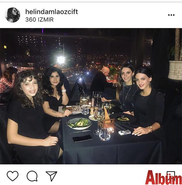 Helin Damla Özçift, yakın dostları Miray Elif Bayık, Aslıhan Aygün ve Ayça Muradoğlu'yla birlikte360 İzmir'de harika bir gece geçirdi.